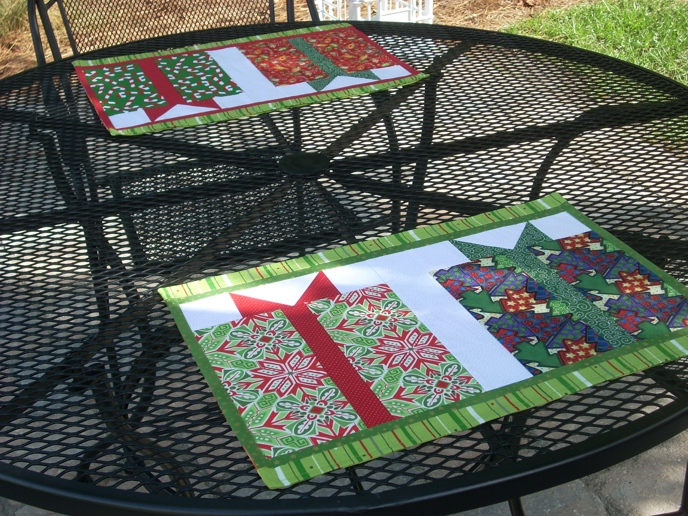 Free Quilt Pattern For Christmas Placemats Cafca Info For
