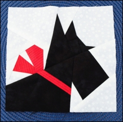 Paper-pieced Scottie Dog