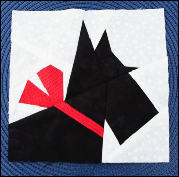 Paper-pieced Scottie Dog