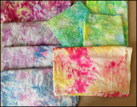 My multi-color dyed fabric.