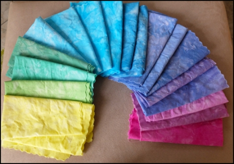 My single color dyed fabric.