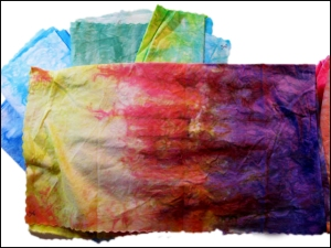 Donna's hand dyed fabric.