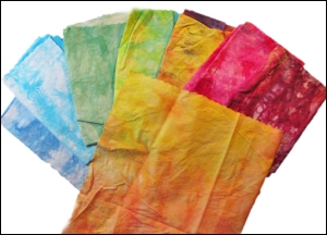 Donna's hand dyed fabrics.