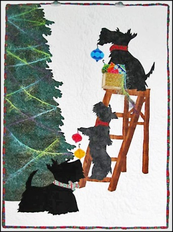 Scottie Christmas wall hanging