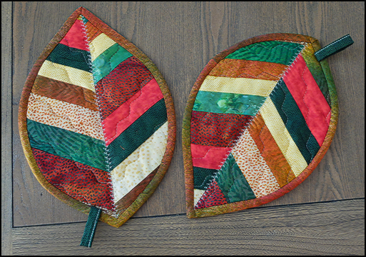 Fall Leave potholder - hostess gift