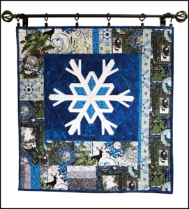 Winter snowflake wallhanging