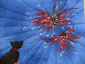Close-up.  Bling'd out fireworks.