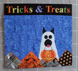 October Scottie Calendar Block