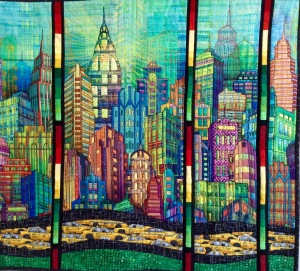 Hoffman Skyline digital print quilt | Quilting Sisters Unravelled : sisters quilt festival - Adamdwight.com