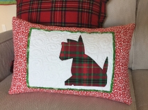 Scottie pillow